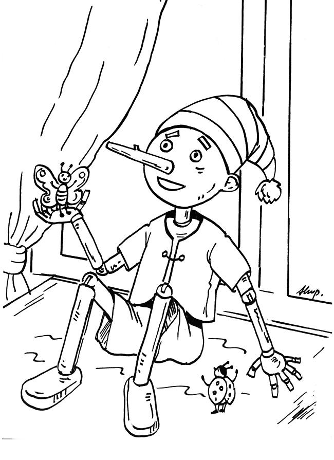 Kolorowanka Dla Dzieci Obrazek Z Bajki O Pinokiu Modowo Pl